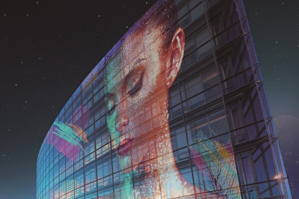 Futurisztikus átlátszó üzleti kijelzők/LG Electronics